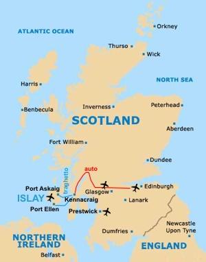 Dove Si Trova La Scozia Cartina.Laphroaig It News Il Viaggio Verso Laphroaig Dall Italia