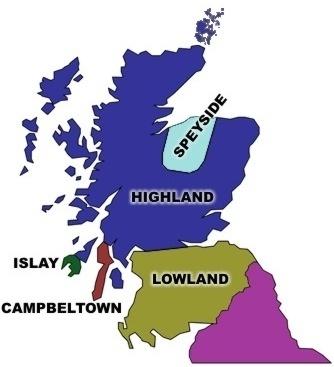 Cartina Geografica Della Scozia.Laphroaig It Il Single Malt Le Zone Di Produzione